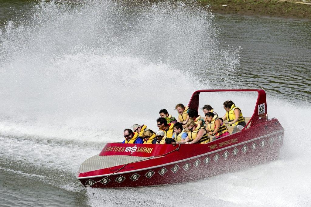 way to transport tourists up Fiji's Sigatoka River.
