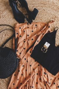 flatlay maxi summer outfit