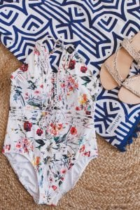 flatlay swimsuit summer holiday