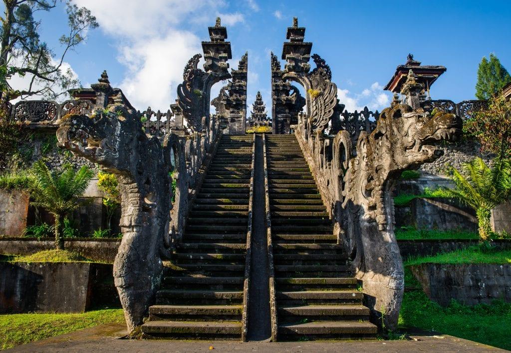 Pura Penataran Agung's candi bentar at Pura Besakih
