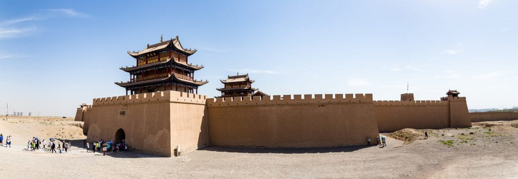 Jiayuguan Fort along the Silk Road in Gansu, China, one of Asia's best experiences
