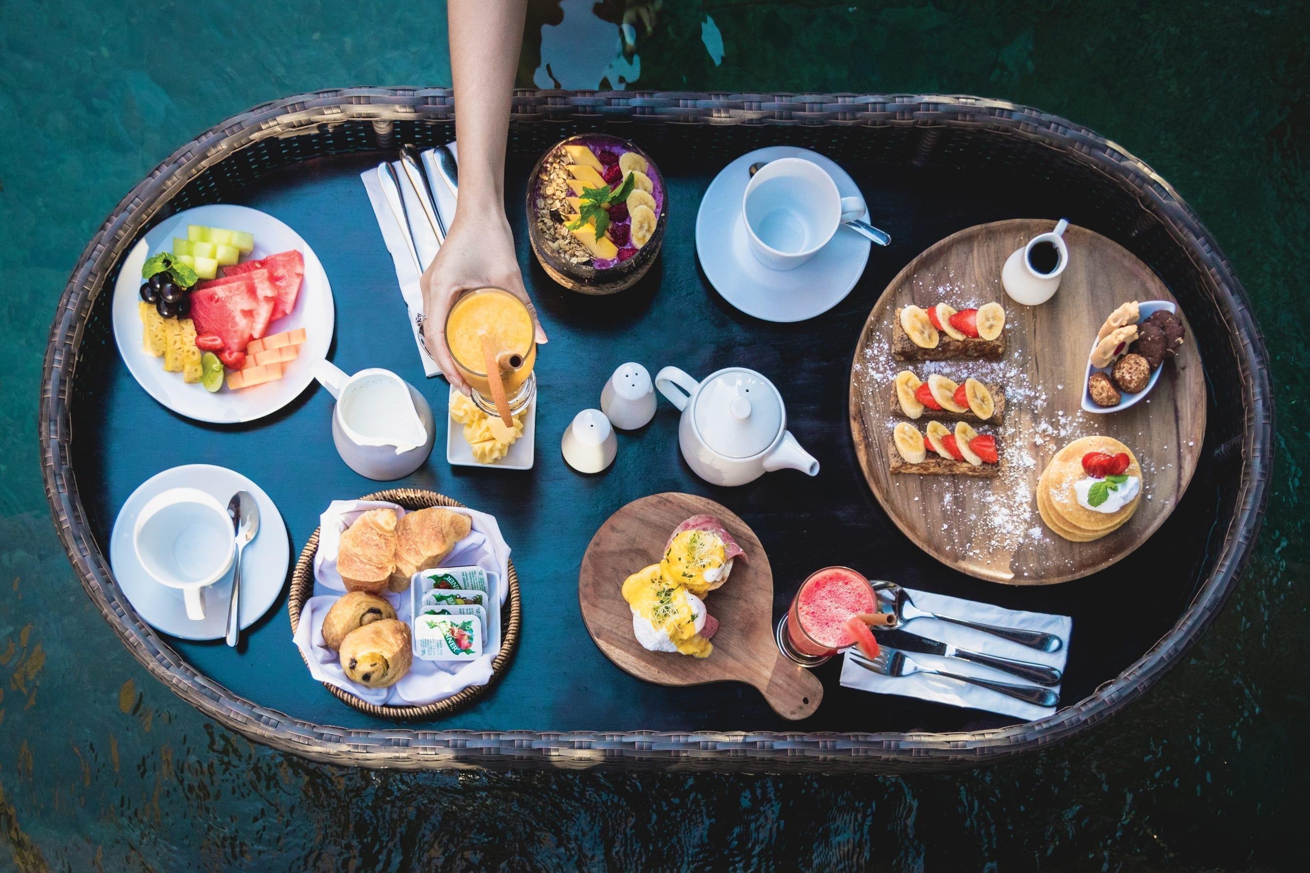 Floating breakfast at Wyndham Dreamland Resort Bali