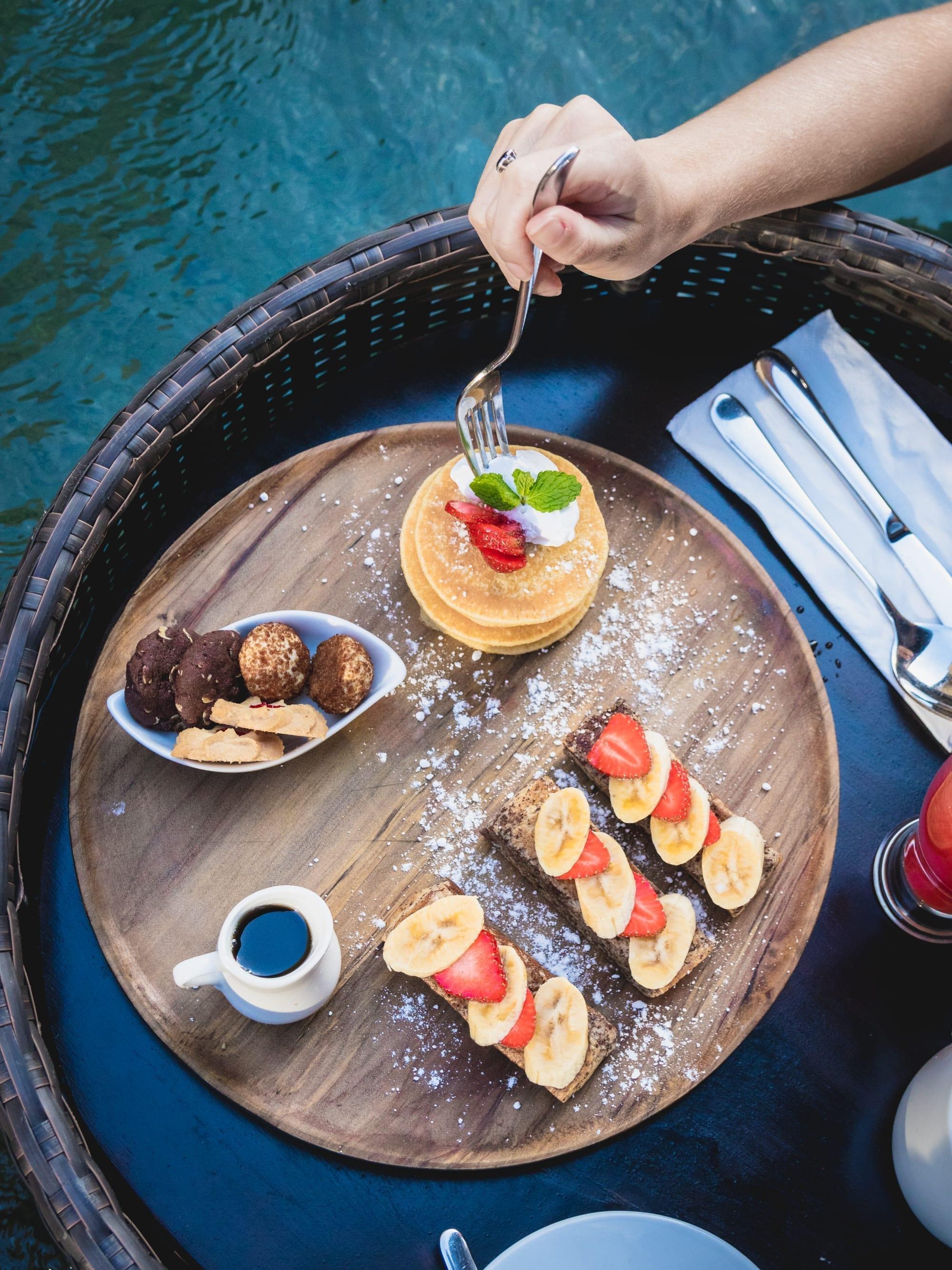 Traditional Floating breakfast in Bali