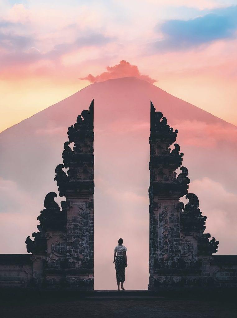 Mount Agung, Bali, at dawn