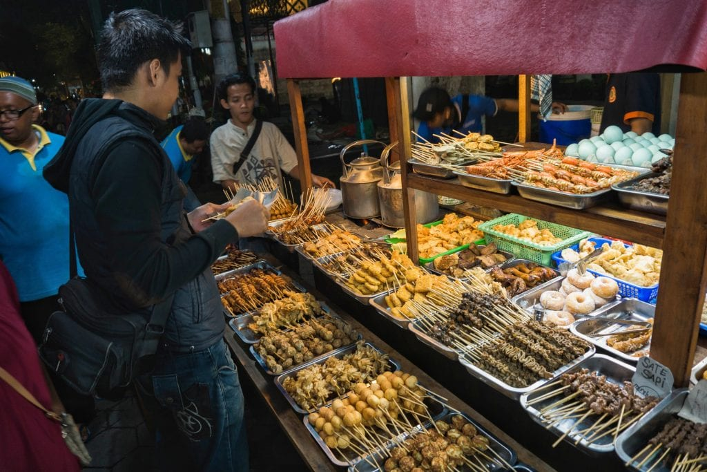 Traditional Indonesian night market