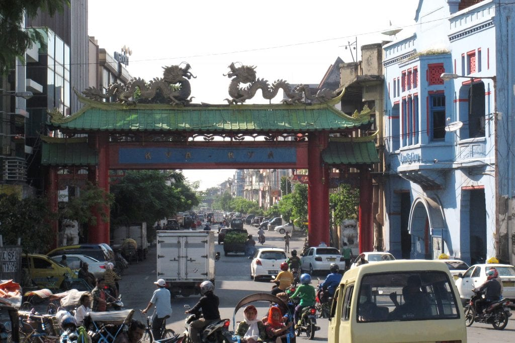 Dragon gate in Chinatown, Surabaya