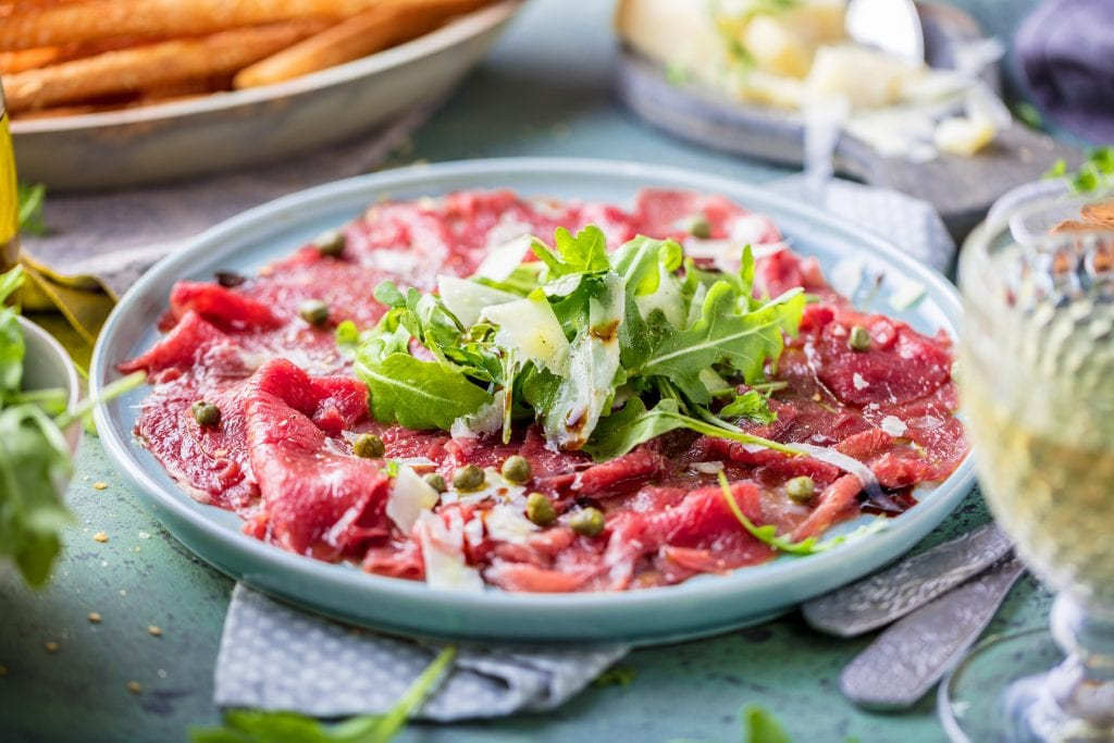Beef carpaccio at Io Esco, Sanctuary Cove