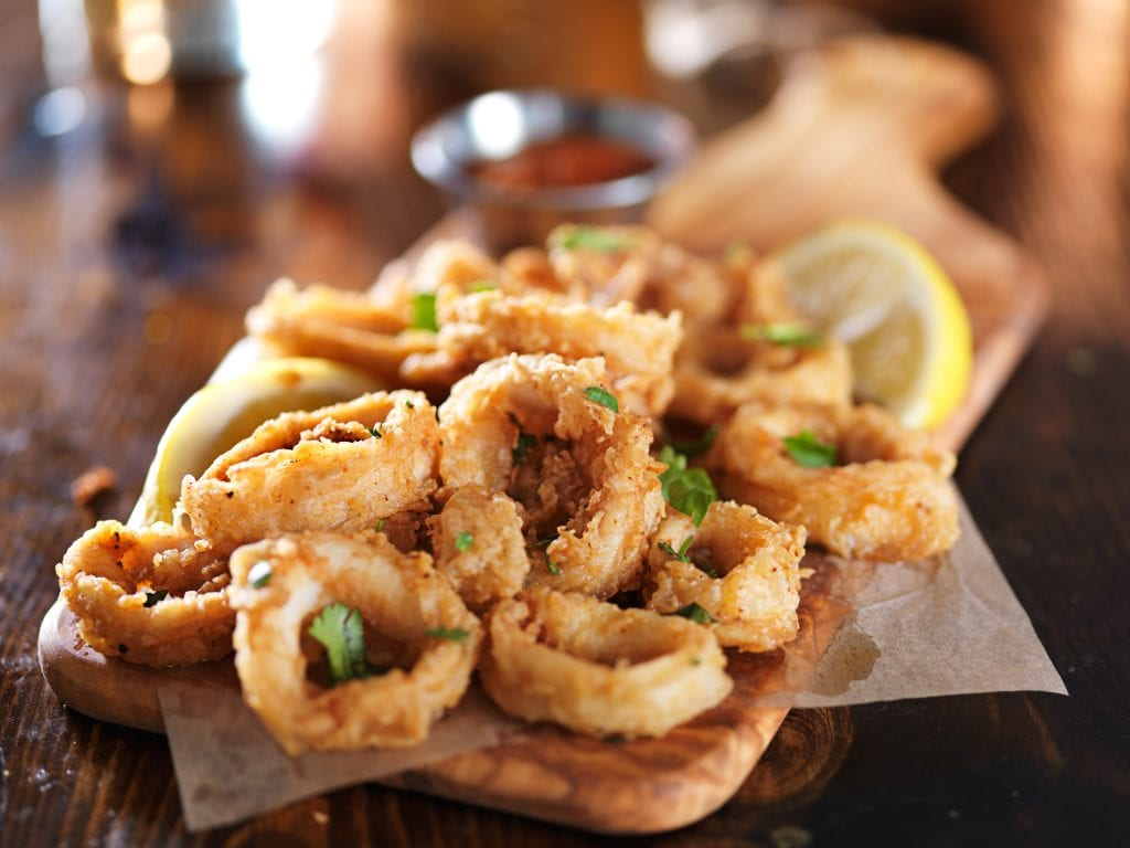 Calamari rings at the Boardwalk Tavern, Hope Island