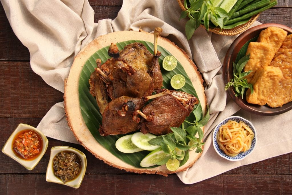 Bebek goreng from Solo, Indonesia